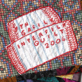 Label for 2006 quilt with tuque