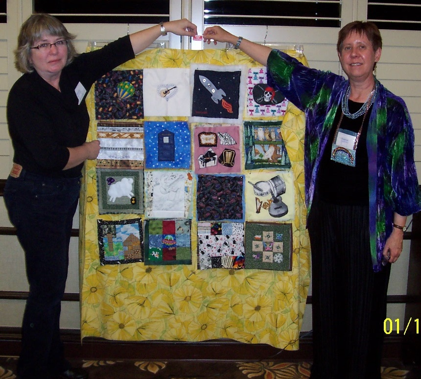 Brenda and Kathleen with Quilt