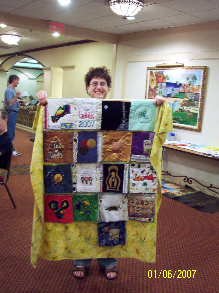 quilt with winner Kathy Horning