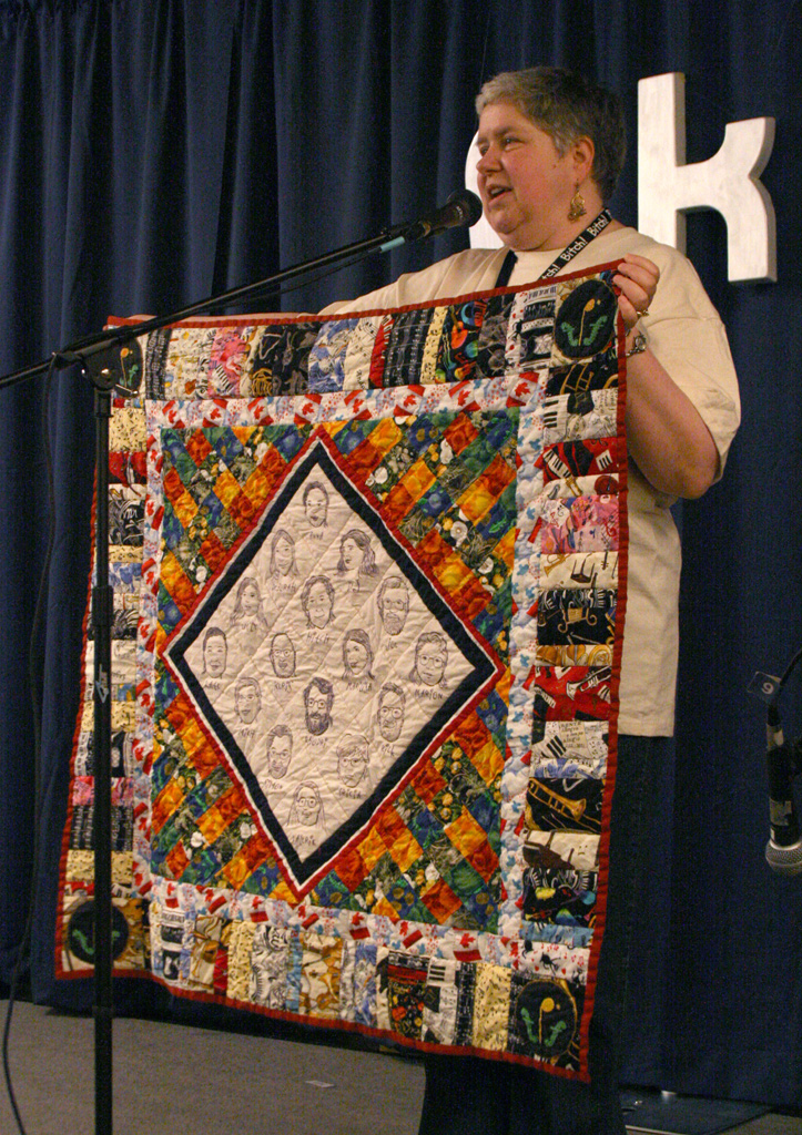 Peggi with quilt